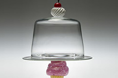 Cupcake Cake, Classic, Glass Art Made By Hollywood Hot Glass