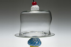 Cupcake Cake Plates, Whimsical, Glass Art Made By Hollywood Hot Glass