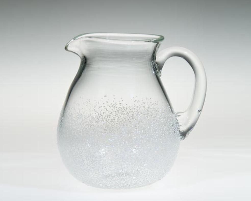 Pitcher, Glass Art Made By Hollywood Hot Glass