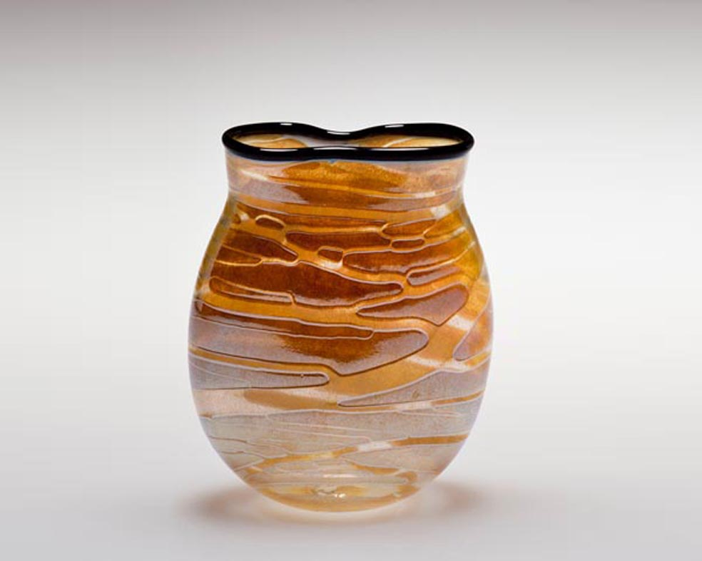 Profile Vase, Glass Art Made By Hollywood Hot Glass