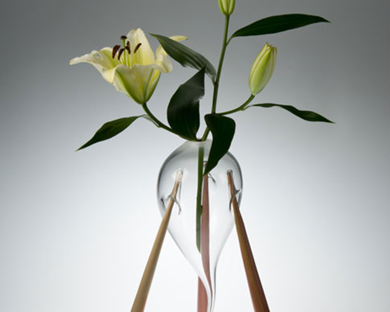 Support Glass Vase, Glass Art Made By Hollywood Hot Glass