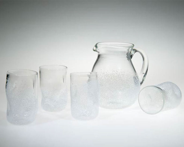 Tumbler and Pitcher Set, Glass Art Made By Hollywood Hot Glass