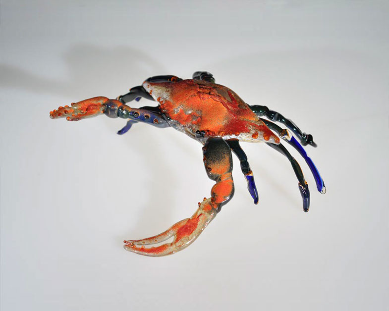 Blue Crab, Glass Art Made By Hollywood Hot Glass