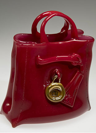 Custom Purse, Glass Art Made By Hollywood Hot Glass