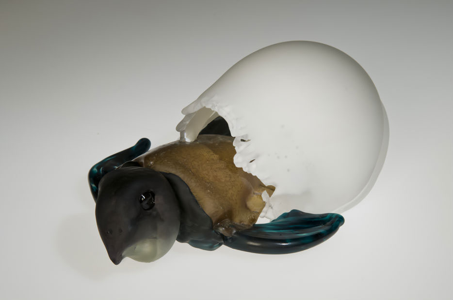 Hatching Turtle, Glass Art Made By Hollywood Hot Glass