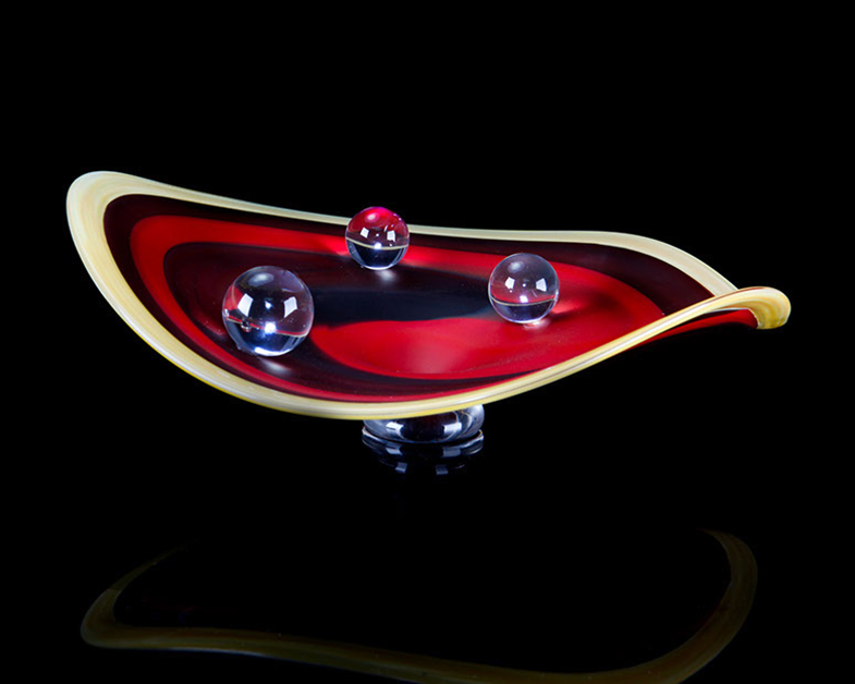 Infinity Bowl, Glass Art Made By Hollywood Hot Glass