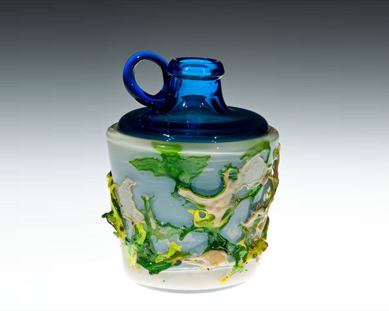 Textured Jug in a Glass, Glass Art Made By Hollywood Hot Glass