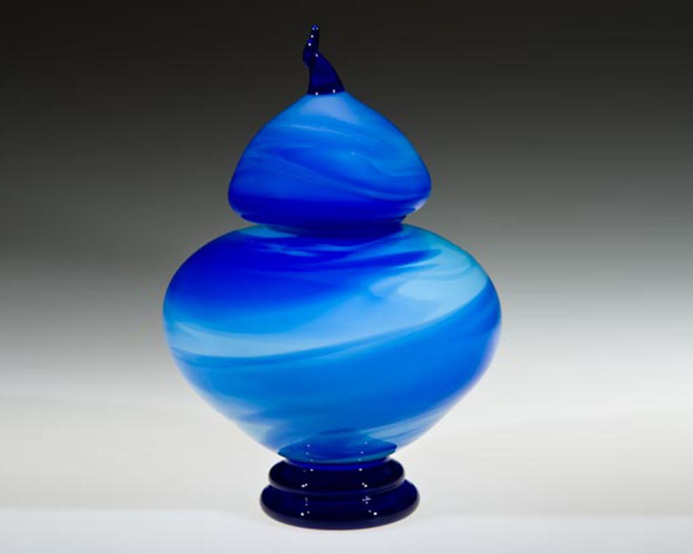Urn, Glass Art Made By Hollywood Hot Glass