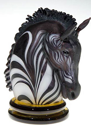 Zebra Knight, Glass Art Made By Hollywood Hot Glass
