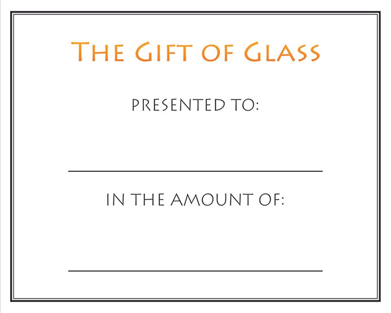 Gift Certificate, Made By Hollywood Hot Glass